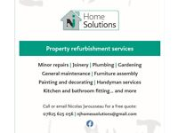Reliable and Experienced, Plastering, General Plumbing and Electrics, Carpentry, Refurbishments