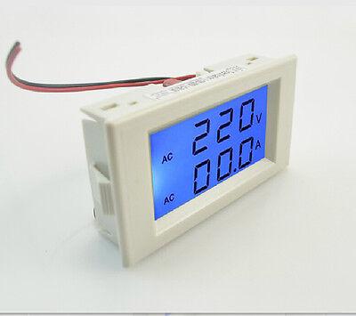 Blue Lcd Ac 100-300v Volt Voltage Meter Current Ampere Panel Meter Ac 0-50a