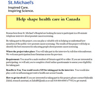 40+ year old males needed for phone study $35 reimbursement