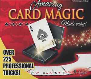 Pro Card Magic Set by Royal Magic 225 tricks book playing deck magic Kit gaff