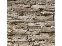 Brand New Box of Vivid Olive Stone Cladding approx 1m squared coverage