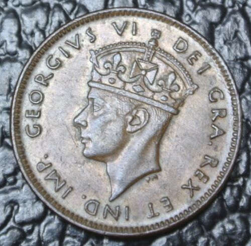 Old Canadian Coin 1943 Newfoundland One Cent