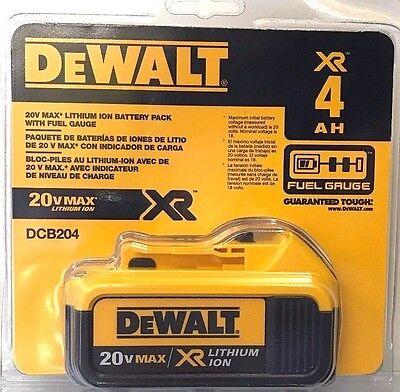 DeWalt DCB204 20V MAX XR 4.0Ah Lithium Ion Battery NEW 2017