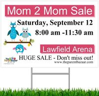HUGE mom to mom sale - Parent spaces still available!