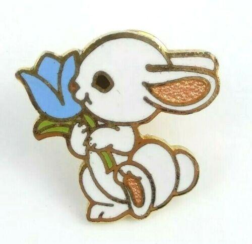 Bunny Rabbit Pin Brooch Tie Tack 1983 Hallmark Easter Sunday Gold Tone Enamel
