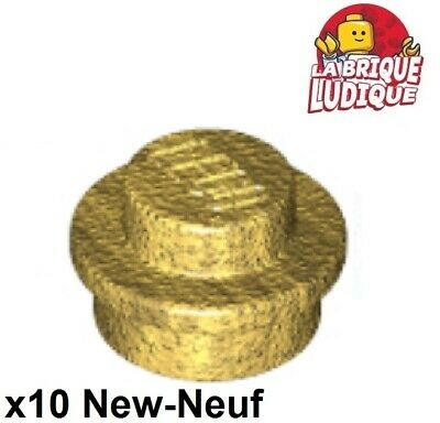 10x Cone 1x1 with Top Groove or doré//pearl gold 4589b NEUF Lego
