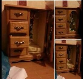 Wardrobe style Jewellery box