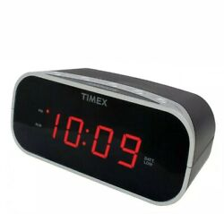 Timex T121B Alarm Clock with 0.7-Inch Red Display (Black) OpenBox