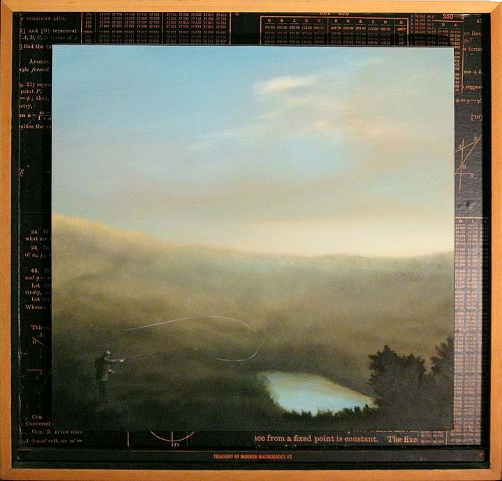 """Thomas Gehrig """"treasury Of Modern Mathematics #3"""" Original Painting Make Offer"""