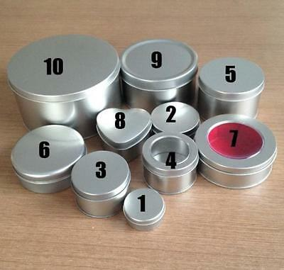 1 PC Metal Silver Small Tin Box Storage Jewelry Candy Round Container with - Small Tin Boxes