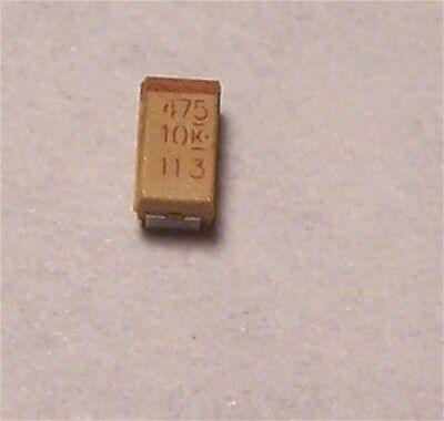 Kemet Tantalum Capacitors 4.7uf 10v Smd 30 Pcs