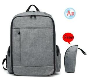 Baby Backpack Diaper Bag with Unisex Design - Grey - Dad Diaper Bag/Backpack- Ship accross Canada