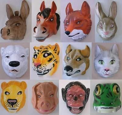 1x Tiermaske - Erwachsene / Tier-Maske / Esel, Fuchs, Hase, Eisbär, Tiger, Wolf
