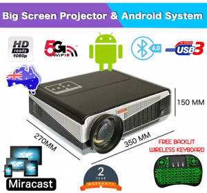 LED 86PLUS ANDROID LCD PROJECTOR WIFI HDMI HOME CINEMA WIFI Hallam Casey Area Preview