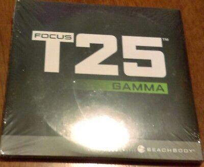 Beachbody Focus T25 Gamma Fitness DVD 4 Disc Set Workout 2 Calendars 25 Min. New
