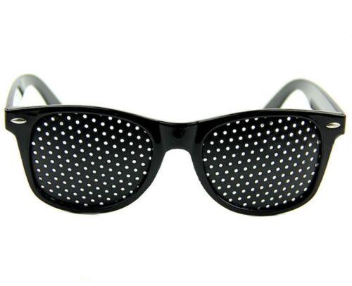 Black Eyesight Improve Pinhole Glasses Stenopeic Eyeglasses Sunglasses IL