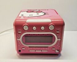 Hello  Kitty CD Player/AM/FM Radio with Clock Alarm Free Shipping /READ