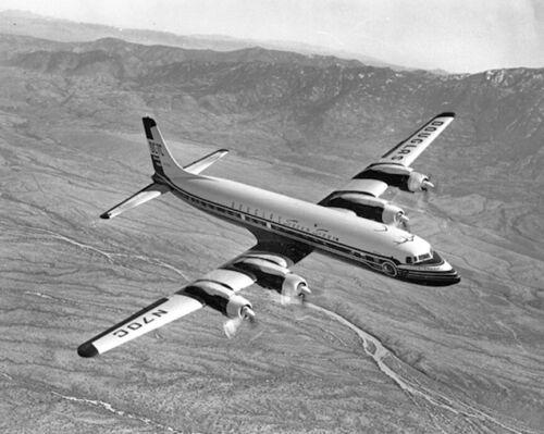 """Douglas DC-7C ((8.5""""x11"""")) Print"""
