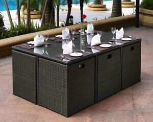 Top Luxury FIJI Outdoor Dining Set Of 11 Pcs Part 33