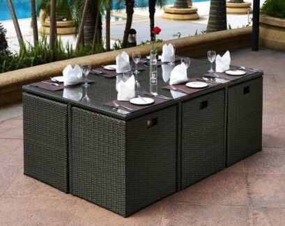 Nice FIJI 11pcs Outdoor Dining Table Set Part 30