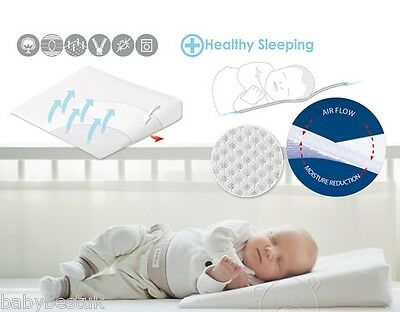 Baby Cot Safety 2in1 Wedge Pillow Prevents Reflux & Flat Head Syndrome - 60x36cm