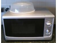 17 Litre Silver Microwave & Toaster by Sainsbury's