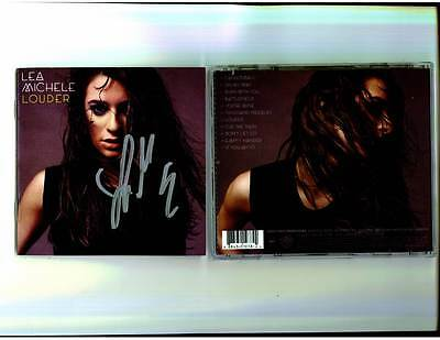 Glee Scream Queens Lea Michele Signed Louder Cd