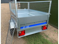 New Maypole 6815 General Purpose Small Trailer with Mesh Sides and Cover
