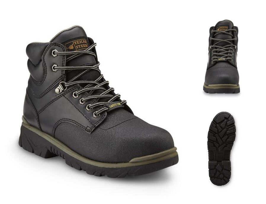 Steel Toe Work Boots Men's Safety Shoes Lightweight Oil Slip