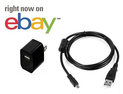 Cyber Shot Camera Camcorders (Sony Cyber shot USB camera Lead Cable Charger Adapter Power PC Transfer Sync )