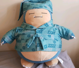 Build a bear pokemon soft toy of snorlax with outfit