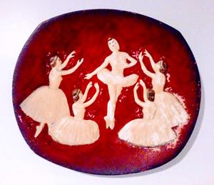 c. 1958 BOSSONS Plate BALLET England Antique Vintage