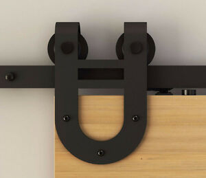 Modern or rustic soft close barn door hardware London Ontario image 3