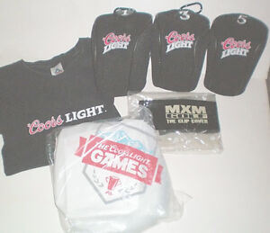 Coors Light MXM Golf Head Covers T Shirt and Games Package