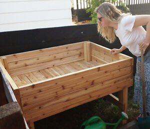 Cedar garden boxes, raised vegetable and flower beds