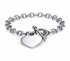 Heart-Tag Charm Bracelet in Sterling Silver – New!!!