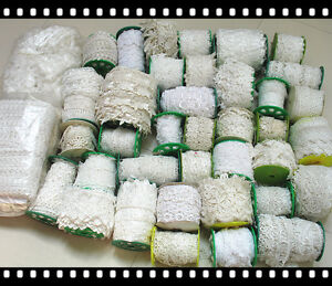 CLEARANCE LOT 0.5 POUND! PREMIUM Venise Lace Trims WHOLESALE White Ivory Wide