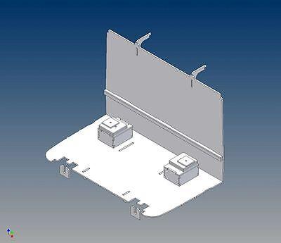ATK: Fahrerhausboden für Tamiya ACTROS (M 1:14) - Trennwand und Sitzkonsolen