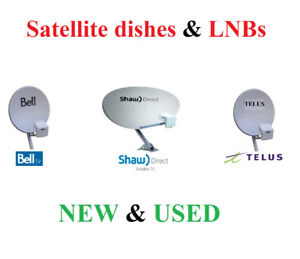 SHAW DIRECT / TELUS / BELL dish and LNB - new and used