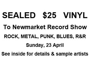 $25 Sealed Metal Rock Punk to Newmarket Record Show