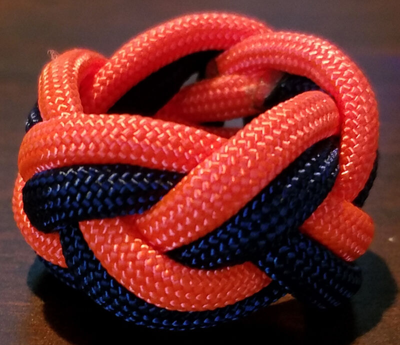 Paracord Neckerchief Woggle Slide - BLUE/ORANGE - TIGER SCOUT - Cub Scout Sized!