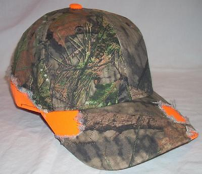 Outdoor Cap Mossy Oak Camouflage Camo Country Blaze Orange Frayed Baseball  Hat 368aad9eb12