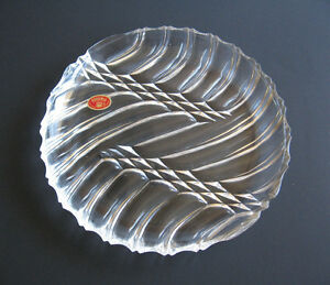 Bohemia Crystal Serving Plate in Original Packaging