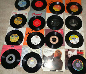 45 rpm Vinyl Anka Sex Pistol's ABC Righteous Bros Cher Payolas