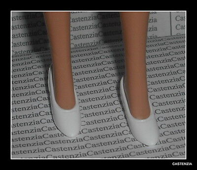 SHOES BARBIE DOLL GREASE SANDY VINTAGE 50'S STYLE WHITE FLATS SHOES ACCESSORY - 50s Fashion Grease