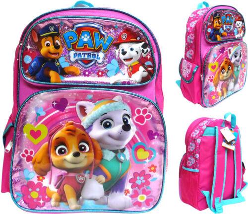 """Nickelodeon Paw Patrol 16"""" Large School Backpack Girl"""