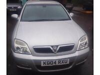 VAUXHALL SIGNUM 1998cc ELEGANCE T 5 DOOR HATCH 2004-04, SILVER, LOOK ONLY 60K FROM NEW