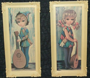 Vintage - 'EDEN MOPPET' pictures in frames Strathcona County Edmonton Area image 2