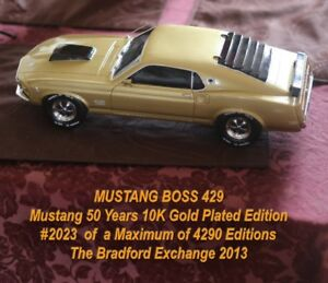 Limited Edition 10 k Gold Mustang Boss Model (1:12)