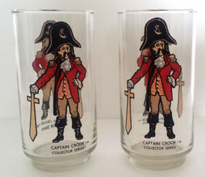 2 McDonald's Captain Crook Glasses